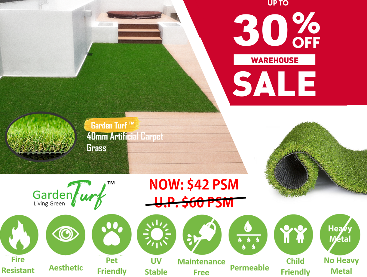 Garden Turf™ 40mm Synthetic Grass (Tropical40)