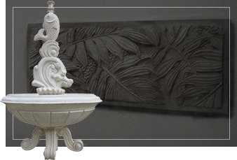 wall carving background with stone ornament