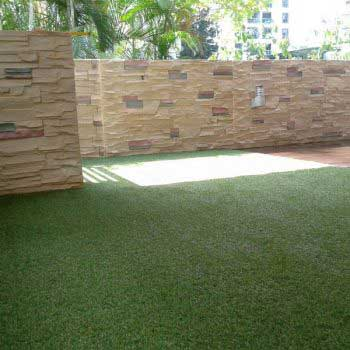 Artificial Grass Flooring At Courtyard