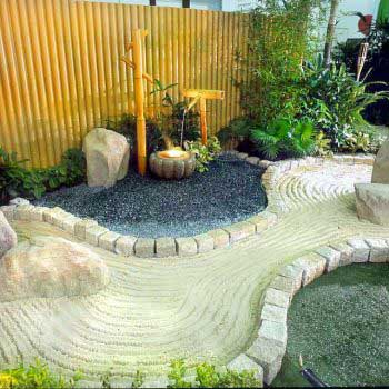 artistic landscape with water feature