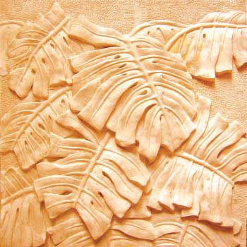 Beautiful Wall Carving of Leaves