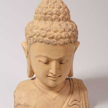 Buddha as a stone ornament