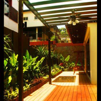 artistic design of composite wood decking