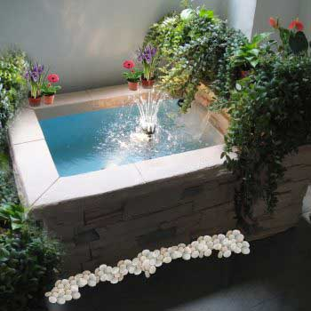 custom-design water feature