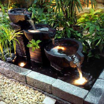 stylish custom-design water feature