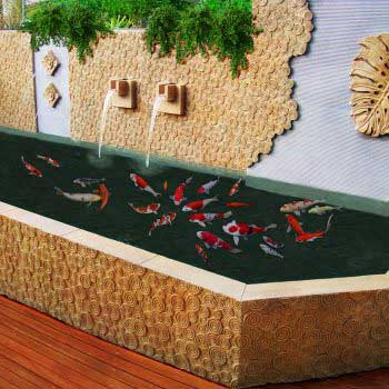 custom-made koi pond