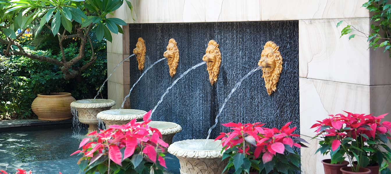customised lion water fountain and water feature Singapore
