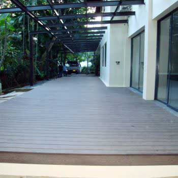 Front View of Timber Decking Floor