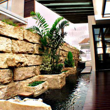 indoor garden water feature