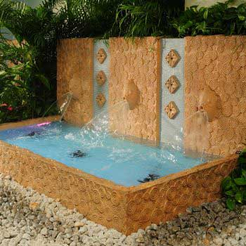 outdoor custom-design fountain