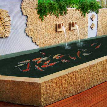 outdoor custom-made koi pond