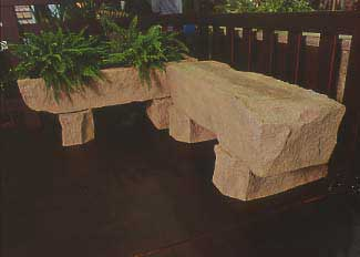 outdoor stylish bench for garden scenery