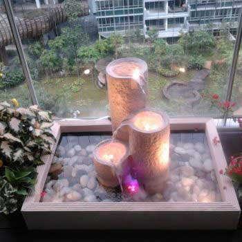 personalized indoor water feature