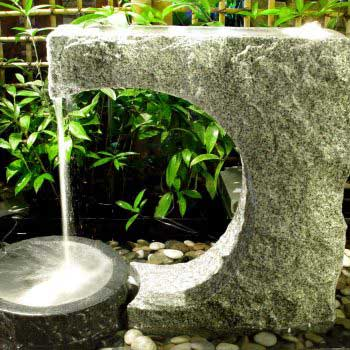 relaxing fountain in a medium-sized rock ornament