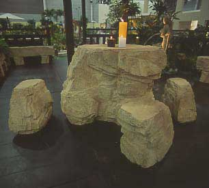 Rock Table Set (Sand Stone)