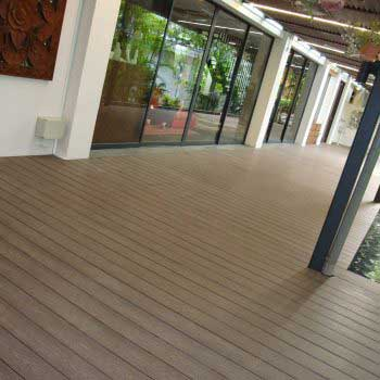 Slant View of Timber Decking