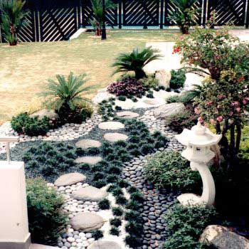stylish landscape of a garden