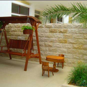 stylish ready-made rattan swing and furnitures