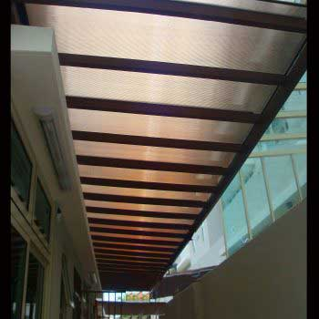 Timber Deck Polycarbonate Trellis Fluorescent