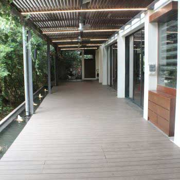 Timber Decking outside store
