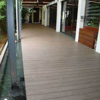 Timber decking stretch