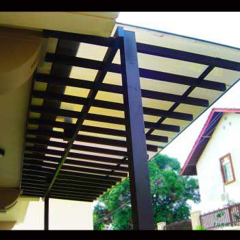 Timber Polycarbonate Trellis