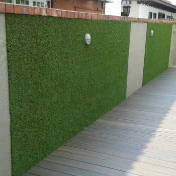 vertical green grass wall designs