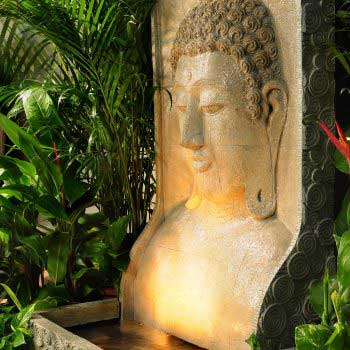 beautifully-made wall carving of Buddha