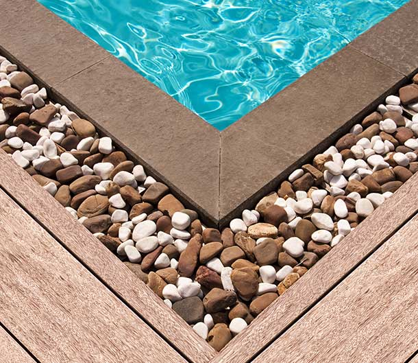 composite timber decking pool edge