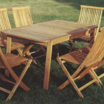 wooden style table set